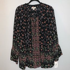 Style & Co Boho Floral Blouse